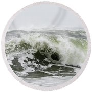 Storm Surf Spray Round Beach Towel