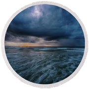 Stormy Morning Round Beach Towel