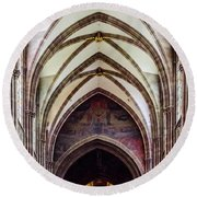 Strasbourg Cathedral - 2 Round Beach Towel
