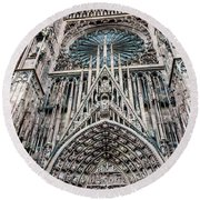 Strasbourg Cathedral Round Beach Towel