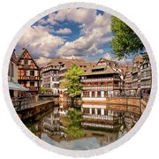 Strasbourg Center Round Beach Towel