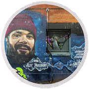 Round Beach Towel featuring the photograph Street Art by Ross G Strachan