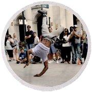 Street Dance. New York City. Round Beach Towel