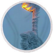 streetlight on the Brocken, Harz Round Beach Towel