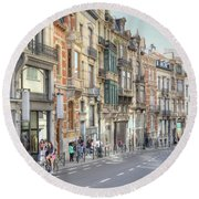 Streets Of Basel Round Beach Towel