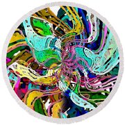 String Theory Round Beach Towel