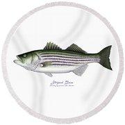 Striped Bass Round Beach Towel