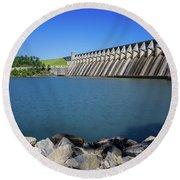 Strom Thurmond Dam - Clarks Hill Lake Ga Round Beach Towel