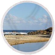 Stumpy Bay Beach Round Beach Towel