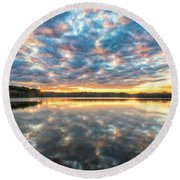 Stumpy Kinda Of Reflection Round Beach Towel