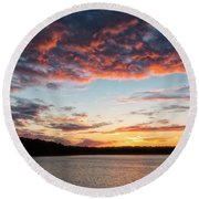 Round Beach Towel featuring the photograph Stumpy Lake Sunset by Russell Pugh