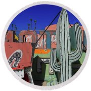 Round Beach Towel featuring the photograph Succulent  by Skip Hunt