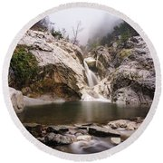 Suchurum Waterfall, Karlovo, Bulgaria Round Beach Towel