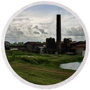 Sugar Factory I, Usine Ste. Madeleine Round Beach Towel