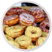 Sugar Frosted Donuts On Sale Round Beach Towel