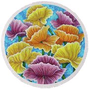 Round Beach Towel featuring the painting Summer Afternoon by Amy E Fraser