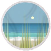 Summer Day At The Beach - Square Round Beach Towel