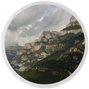 Round Beach Towel featuring the photograph Summer In The Anisclo Canyon by Stephen Taylor