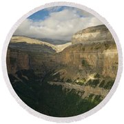 Round Beach Towel featuring the photograph Summer Magic In The Ordesa Valley by Stephen Taylor