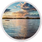 Summer Shower  Round Beach Towel