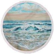 Summer Surf Round Beach Towel