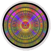 Round Beach Towel featuring the digital art Sun 02112019 by Visual Artist Frank Bonilla