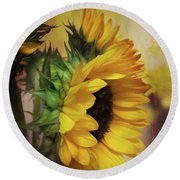 Sun Is Up Round Beach Towel