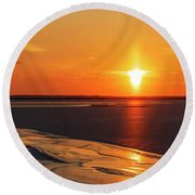 Round Beach Towel featuring the photograph Sun Pillar 02 by Rob Graham