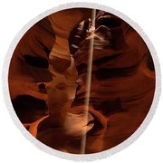 Sunbeam In Upper Antelope Canyon Round Beach Towel