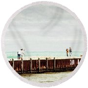 Sunny Afternoon Round Beach Towel