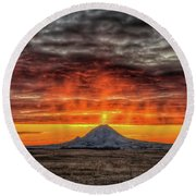 Sunday Sunrise Nov. 11, 2018 Round Beach Towel