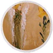 Sunflower Angel Round Beach Towel