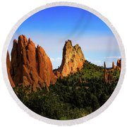 Round Beach Towel featuring the photograph Sunlight On The Garden by Jon Burch Photography