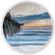 Sunrise Bliss Round Beach Towel