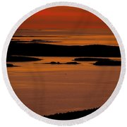 Sunrise Cadillac Mountain Round Beach Towel