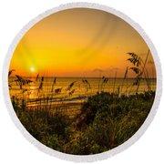 Sunrise On The Dunes  Round Beach Towel
