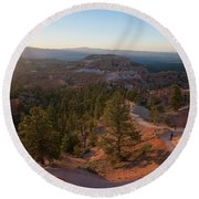 Sunrise Over Bryce Canyon Round Beach Towel