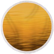 Round Beach Towel featuring the photograph Sunrise Reflections Abstract by Dan Sproul
