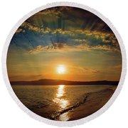 Sunset Artistry Round Beach Towel
