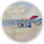 Sunset Beach Observers Round Beach Towel