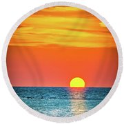 Sunset Captiva  Round Beach Towel