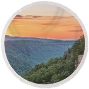 Sunset Flare Round Beach Towel