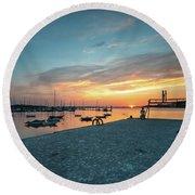Sunset Looker Round Beach Towel