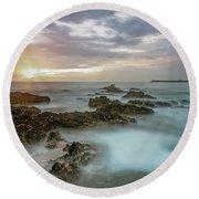 Sunset Matosinhos Round Beach Towel
