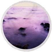 Sunset Over The Sea, 17-mile Drive Round Beach Towel