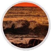 Sunset Wave Round Beach Towel