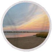 Sunset West Dennis Cape Cod Round Beach Towel