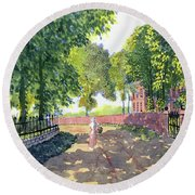 Sunshine And Shadows Round Beach Towel