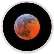 Super Blood Moon Eclipse 2019 Round Beach Towel