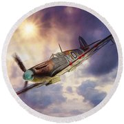Supermarine Spitfire Round Beach Towel